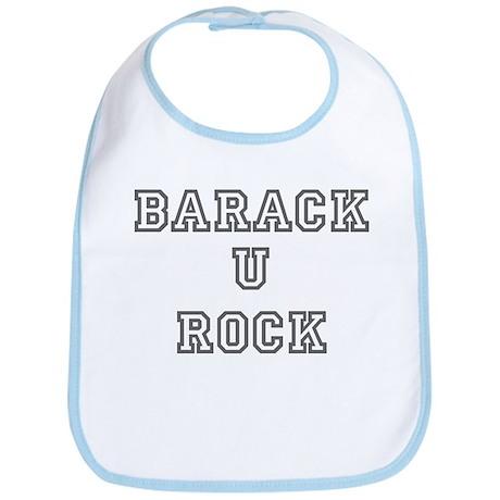 barack u rock varsity Bib