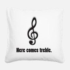 treble Square Canvas Pillow