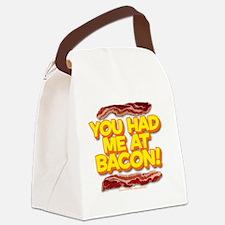 youhadmeatbacon Canvas Lunch Bag