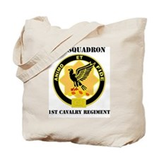 1ST SQU, 1ST CAV WITH TEXT Tote Bag