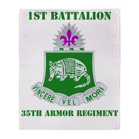 35TH ARMOR RGT WITH TEXT Throw Blanket