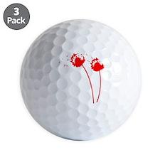 red_dandelion Golf Ball