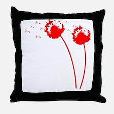 red_dandelion Throw Pillow