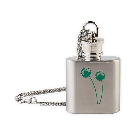 green_dandelion Flask Necklace