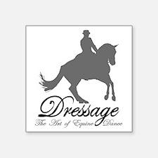"Dressage Dance Square Sticker 3"" x 3"""