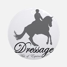Dressage Dance Round Ornament