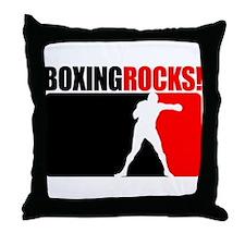 Boxing Rocks! Throw Pillow