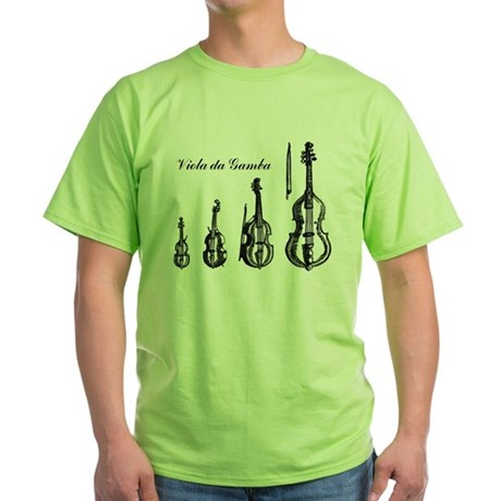 Viola da Gamba Bright Green T-Shirt