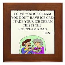 xen ice cream koan Framed Tile