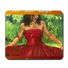 Red Dress_Live Love Laugh DANCE Mousepad