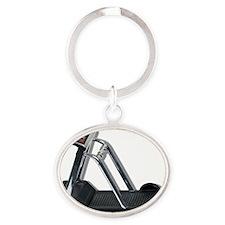 ExerciseTreadmill092610 Oval Keychain