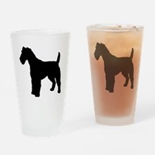 Fox Terrier.eps Drinking Glass