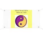 zen buddhism koan satori meditation tao Banner
