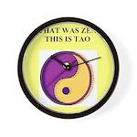 zen buddhism koan satori meditation tao Wall Clock