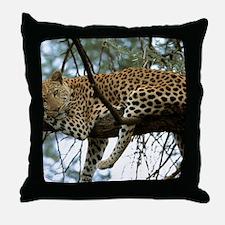 Leo Tree panel print Throw Pillow