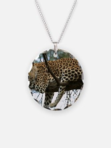 Leo Tree panel print Necklace