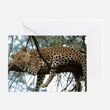 Leo Tree panel print Greeting Card