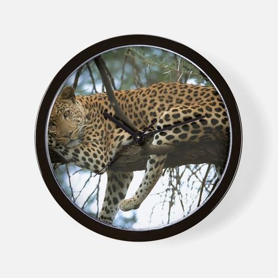 Leo Tree panel print Wall Clock