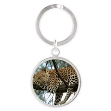 Leo Tree tile Round Keychain