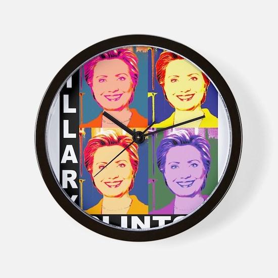 Hilary Pop Art Wall Clock