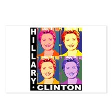 Hilary Pop Art Postcards (Package of 8)