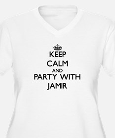 Keep Calm and Party with Jamir Plus Size T-Shirt