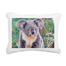 Koala Smile L print Rectangular Canvas Pillow