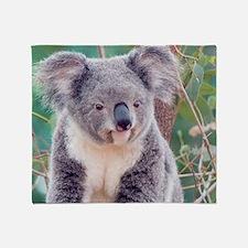 Koala Smile L print Throw Blanket