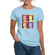 Hillary Clinton Pop Art 4 Women's Pink T-Shirt