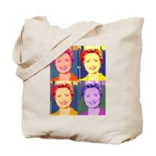Hillary Clinton Pop Art 4 Tote Bag