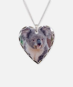 Koala Smile pillow Necklace Heart Charm
