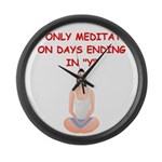 MEDITATE2.png Large Wall Clock