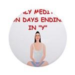 MEDITATE2.png Ornament (Round)