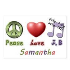 peace love jb Postcards (Package of 8)