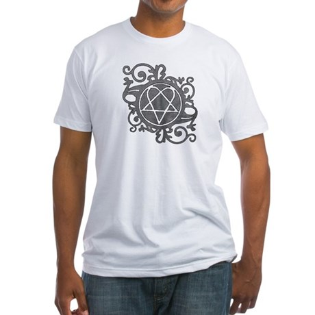 Fitted Girls Tee featuring Heartagram ornament