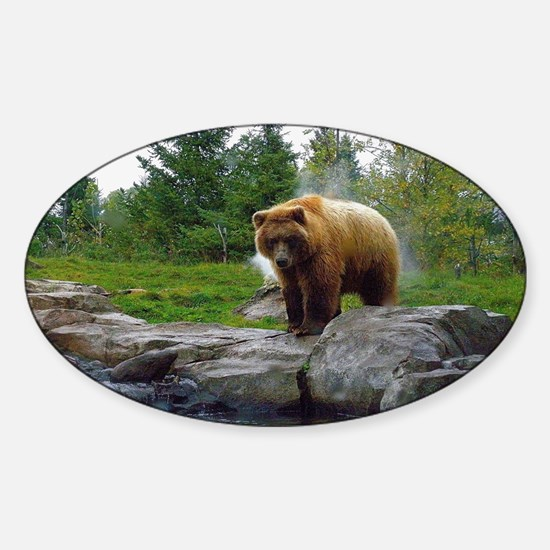 Grizzly Sticker (Oval)