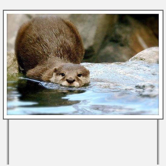 River Otter Yard Sign