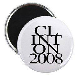 Layers: Clinton 2008 Fridge Magnet