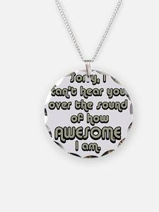 sorryicanthearyougrayblack Necklace