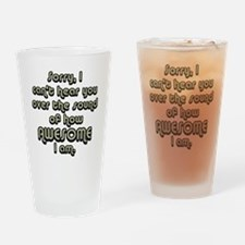 sorryicanthearyougrayblack Drinking Glass