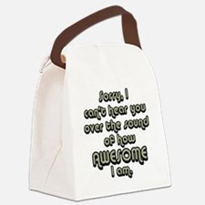 sorryicanthearyougrayblack Canvas Lunch Bag