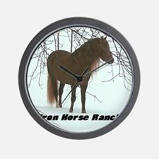 frostrees Iron Horse Ranch Wall Clock