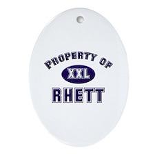 Property of rhett Oval Ornament