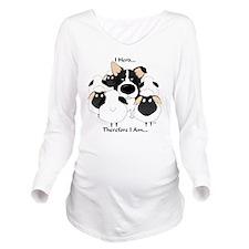 BorderCollieHerdingL Long Sleeve Maternity T-Shirt