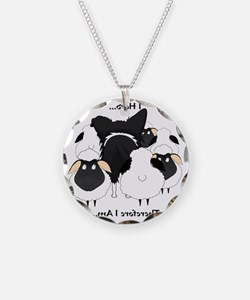 BorderCollieHerdingMirrorLig Necklace