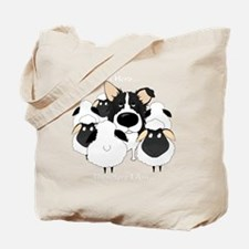 BorderCollieHerdingDark Tote Bag