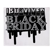 BLACK FRIDAY SURVIVAL   Throw Blanket