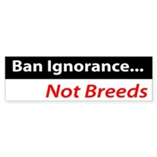 Ban Ignorance Bumper Bumper Sticker