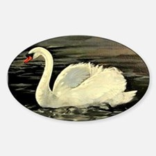 Tile Swan (Pale Teal) x 2 Decal