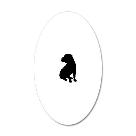 shar pei 2.eps 20x12 Oval Wall Decal